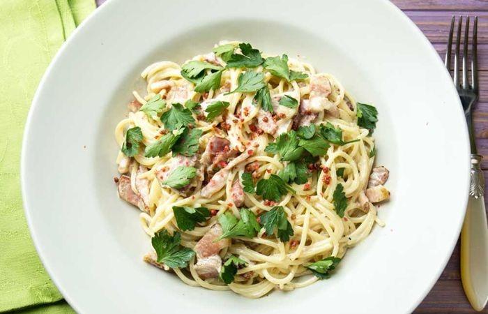 спагетти карбонара классический