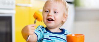 Чем накормить ребенка в 2 года