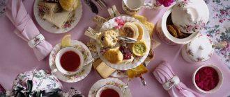 Сервировка чайного стола: фото